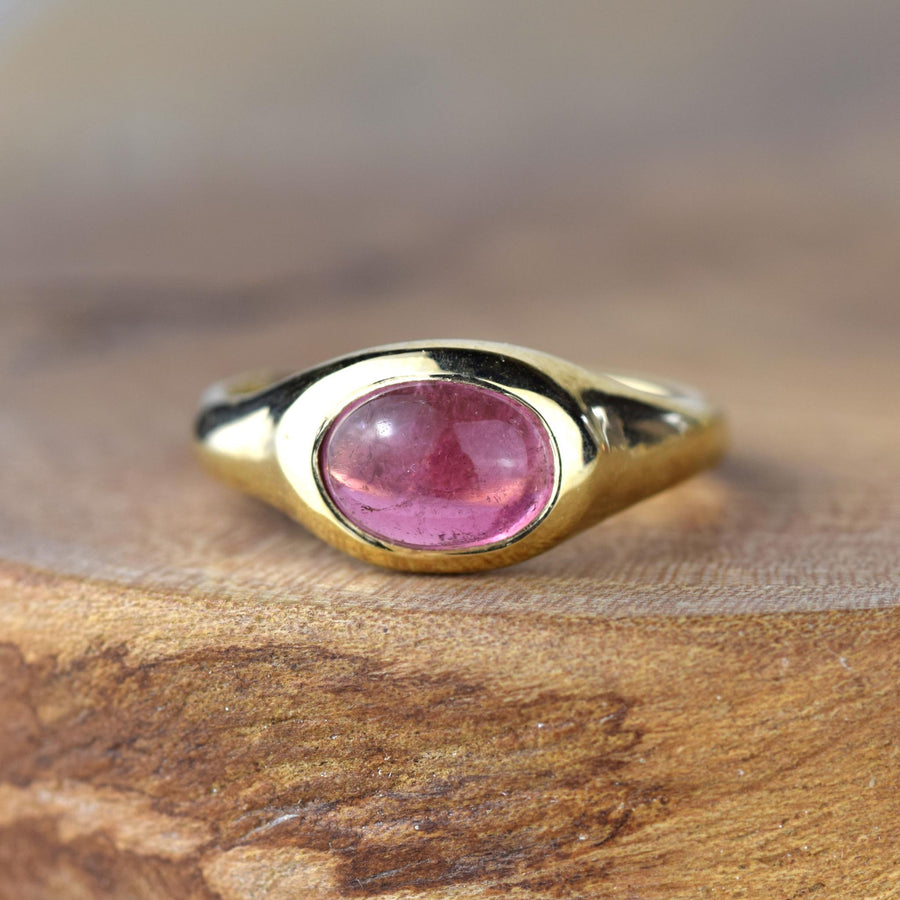 14ct Gold Pink Tourmaline Serenity Ring