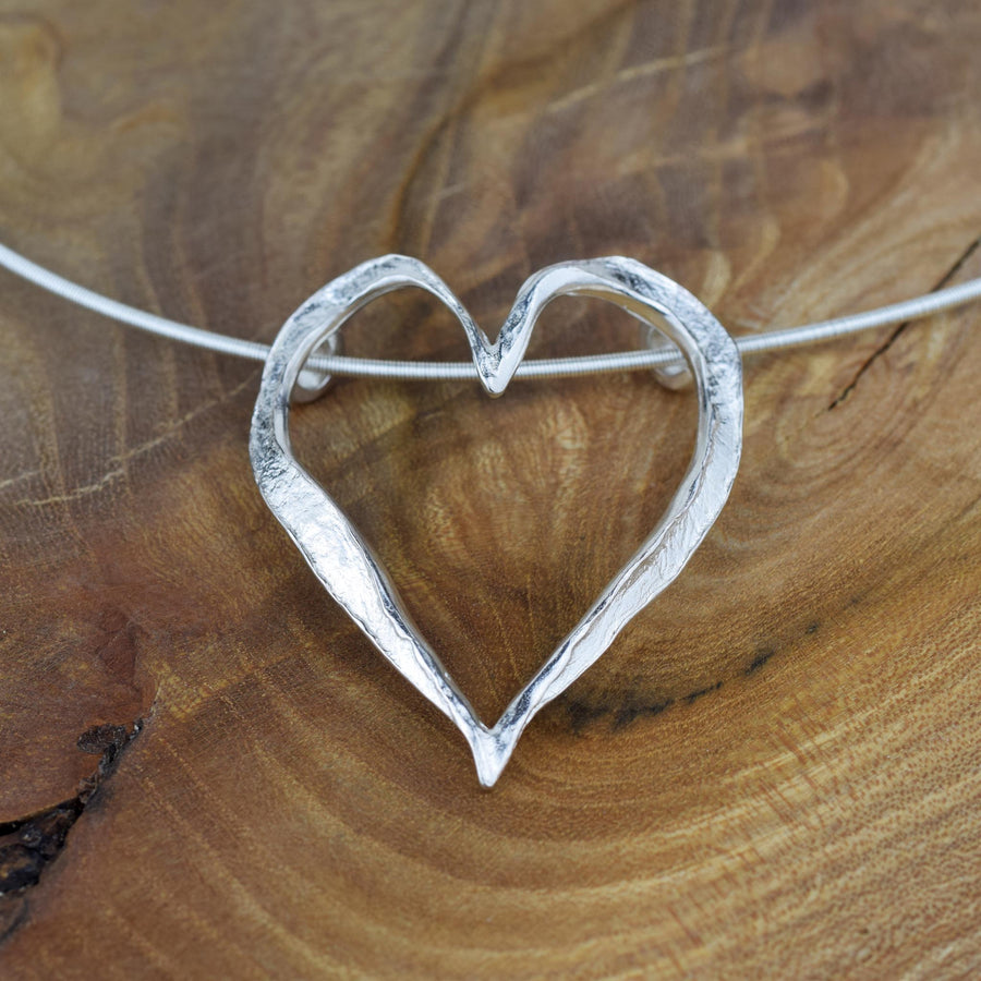Large Open Heart Necklet