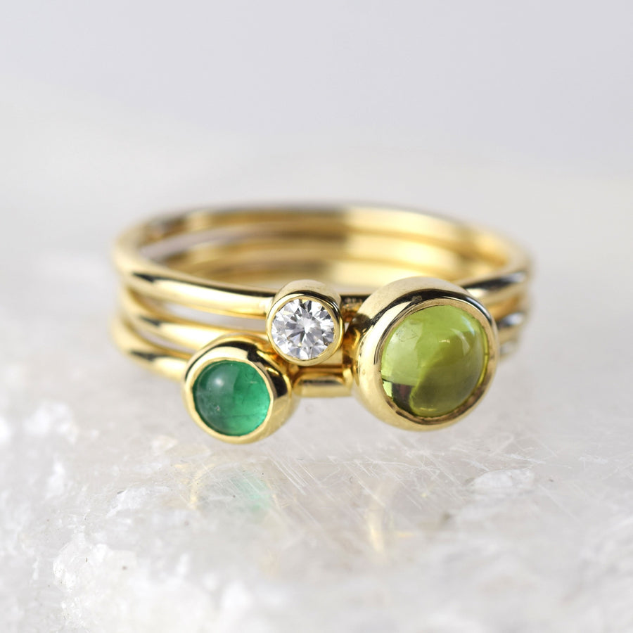 Emerald Gold Stacking Ring