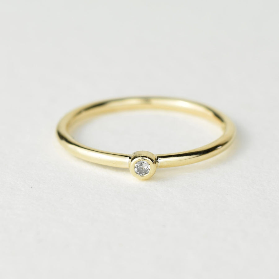 Andromeda 2mm Diamond Gold Ring