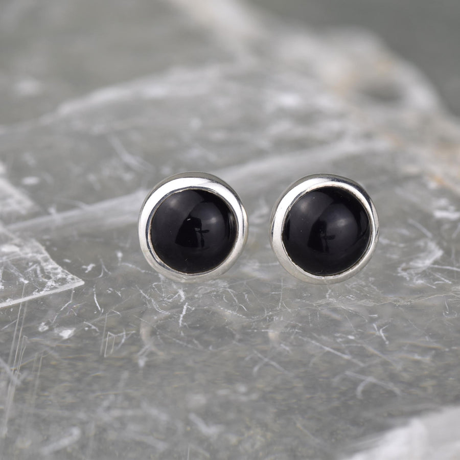 Gemstone Studs - Black Onyx