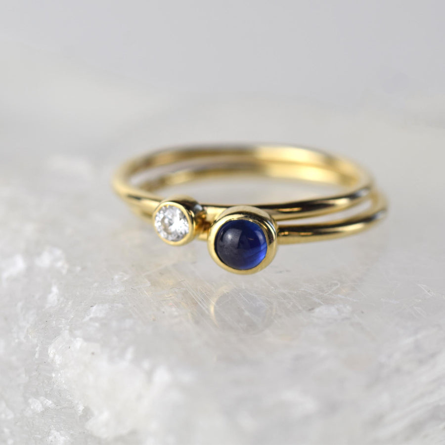 Sapphire Gold Stacking Ring