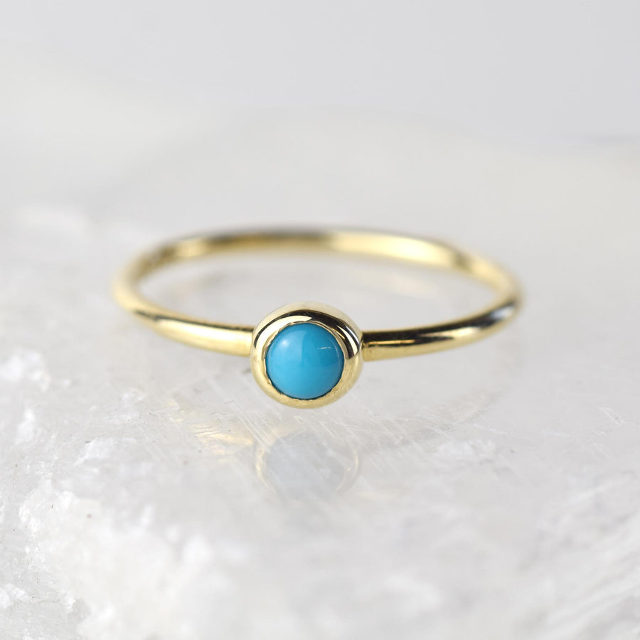 Turquoise Gold Stacking Ring
