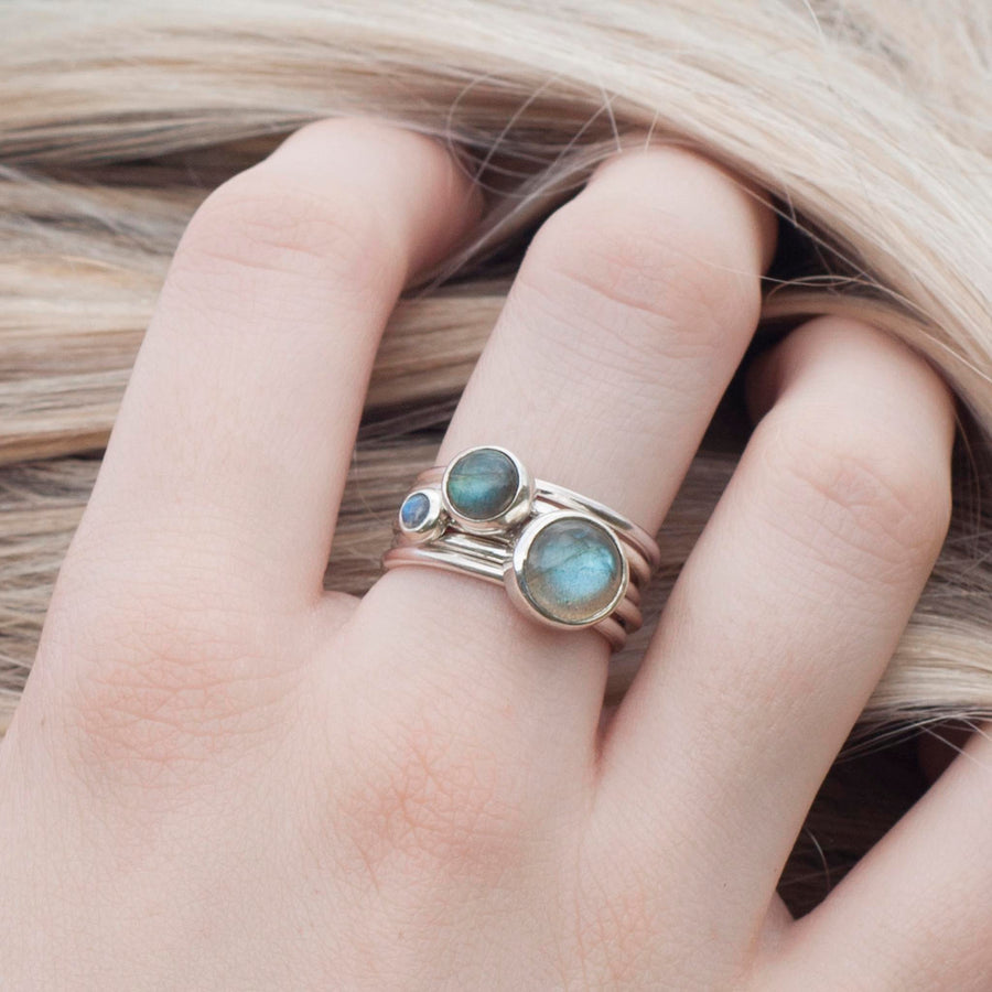Storm: Labradorite Stacking Rings