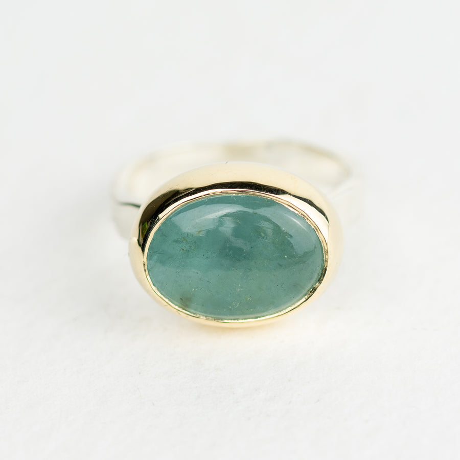 One Of A Kind Silver And Gold Aquamarine Storybook Ring - No.115