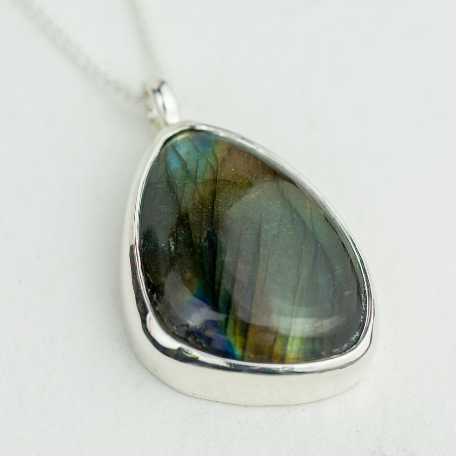 One Of A Kind Labradorite Pendant - No.549