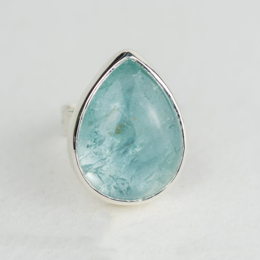 One Of A Kind Teardrop Aquamarine Storybook Ring - No.96