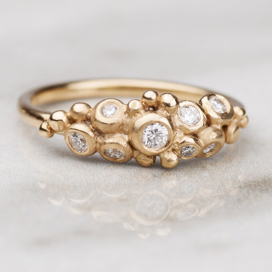 Diamond Pebble Cluster Ring