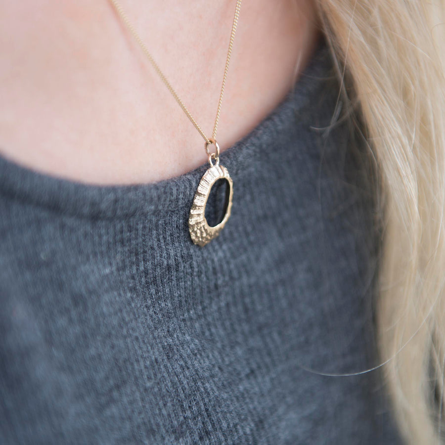 Gold Limpet Shell Pendant