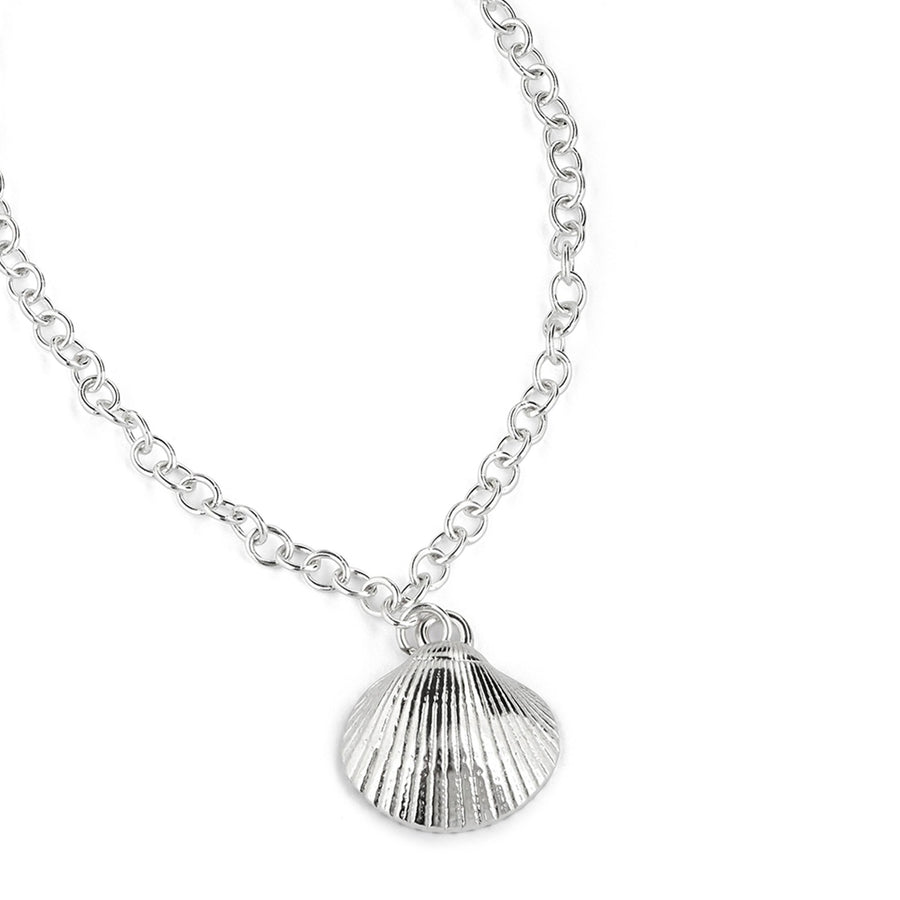 Silver Cockle Shell Bracelet