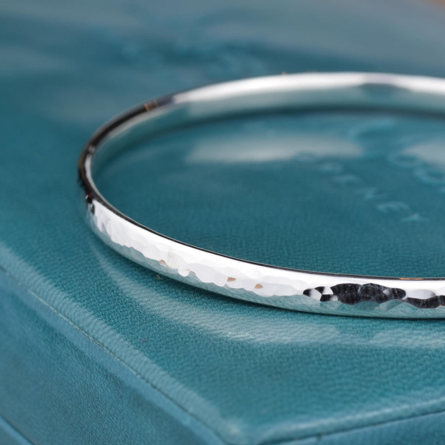 Single Simple Hammered Bangle