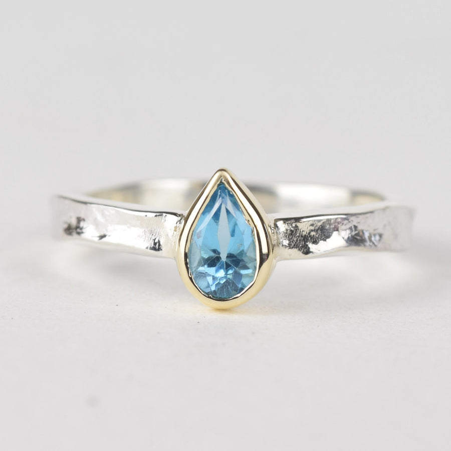 Blue Topaz Alice Ring