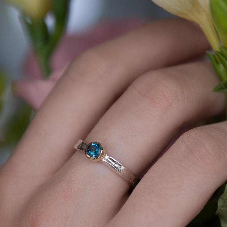 London Blue Topaz Esme Gemstone Storybook Ring