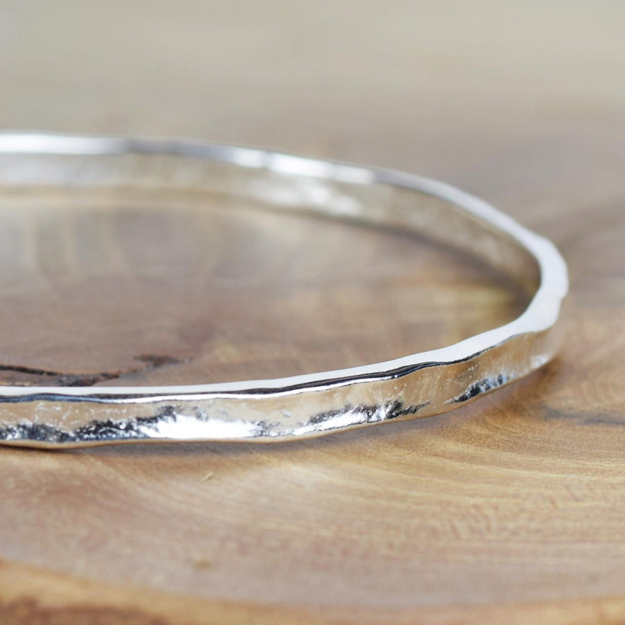 Narrow Silver Storybook Bangle