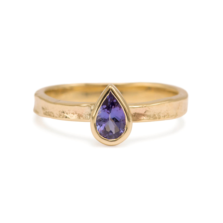 Gold Tanzanite Alice Ring