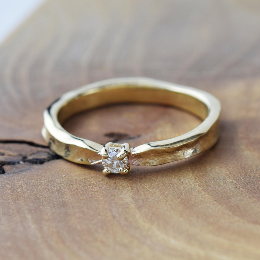 Yellow Gold Diamond Thumbelina Ring
