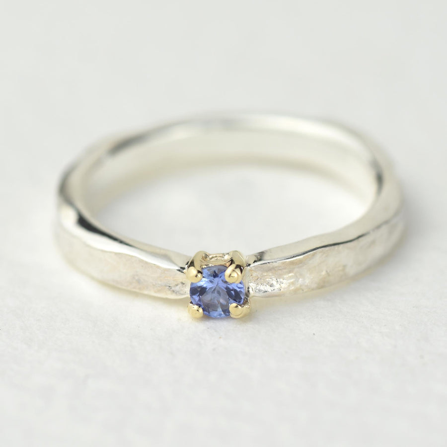 Tanzanite Thumbelina December Birthstone Ring
