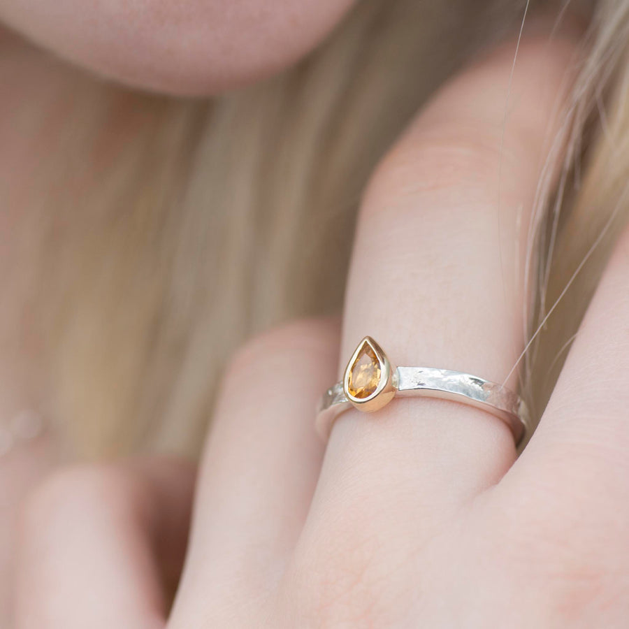Citrine Alice Ring