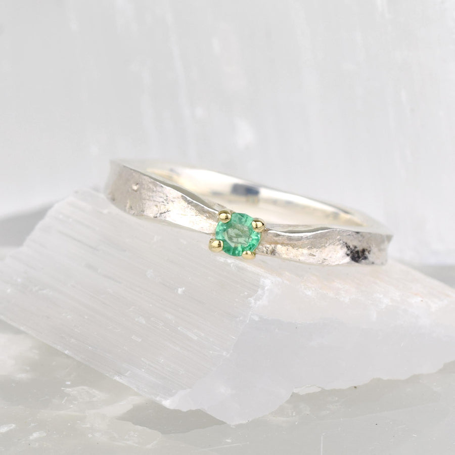 Emerald Thumbelina May Birthstone Ring