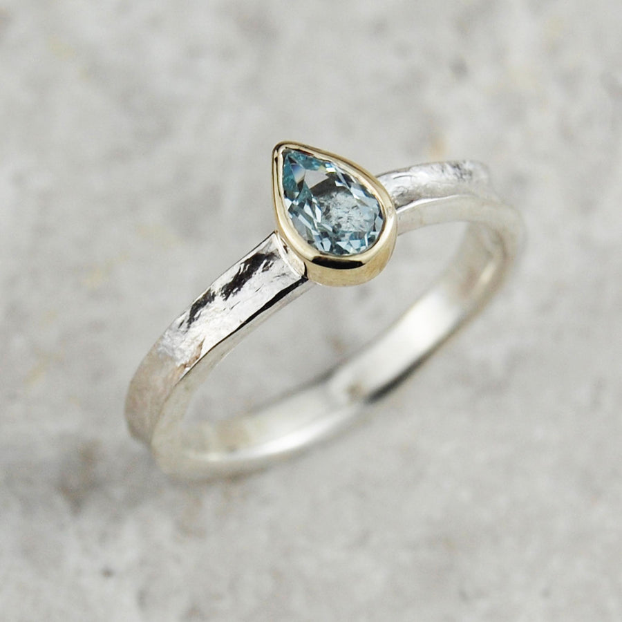 Aquamarine Alice Ring