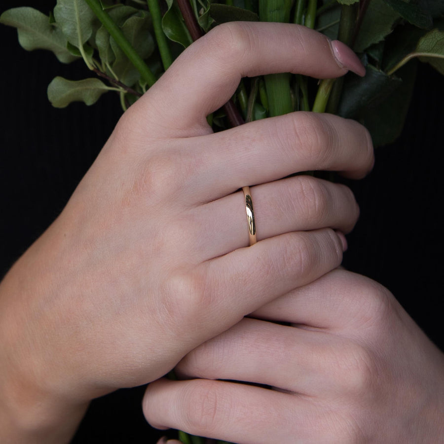 Narrow Gold Wedding Ring