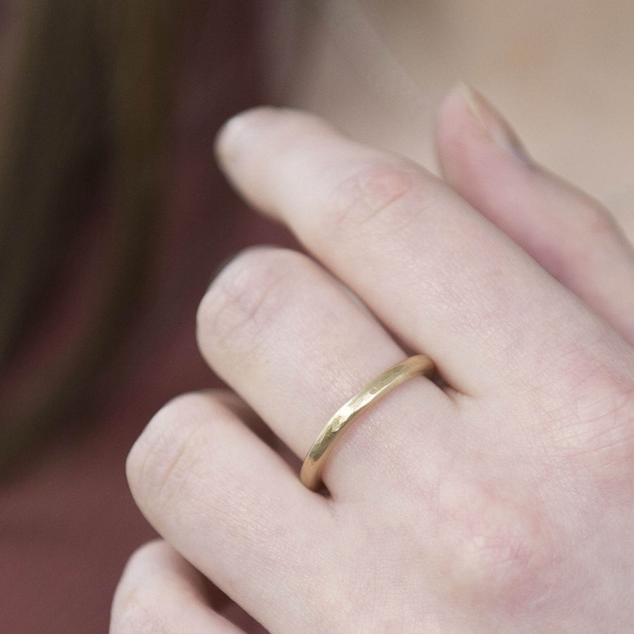 2.5mm Gold Halo Ring