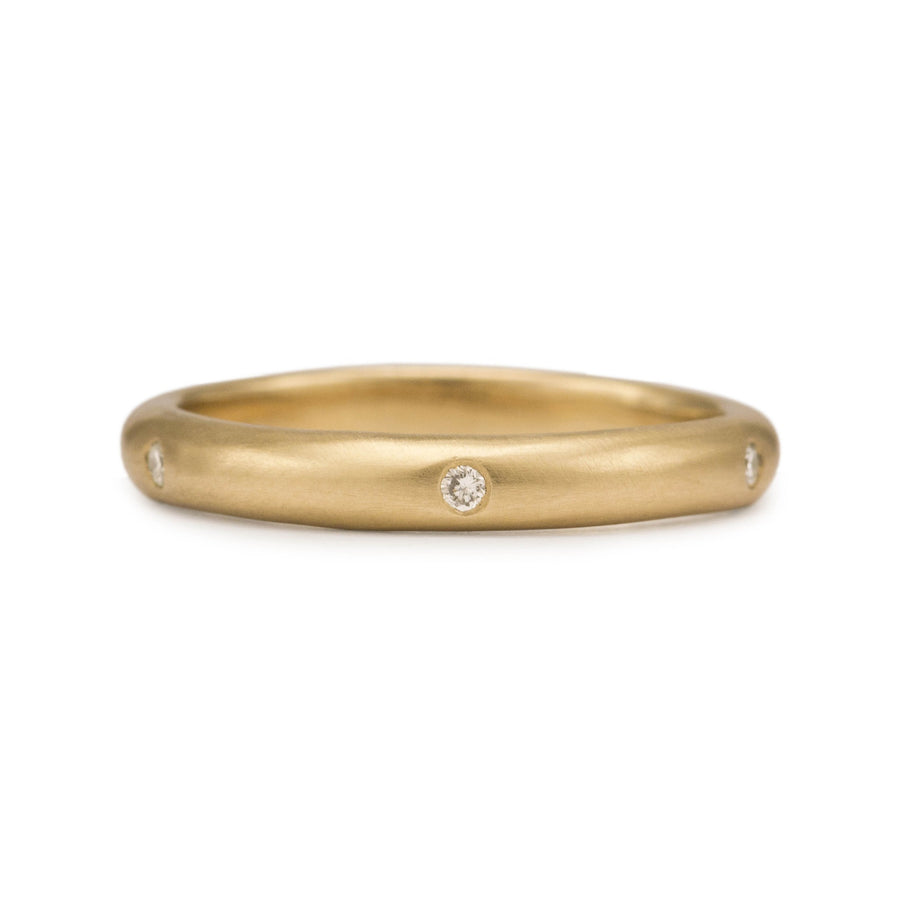 Six Diamond Gold Ring