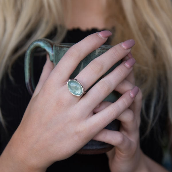 Oval Aquamarine Storybook Ring - No.35