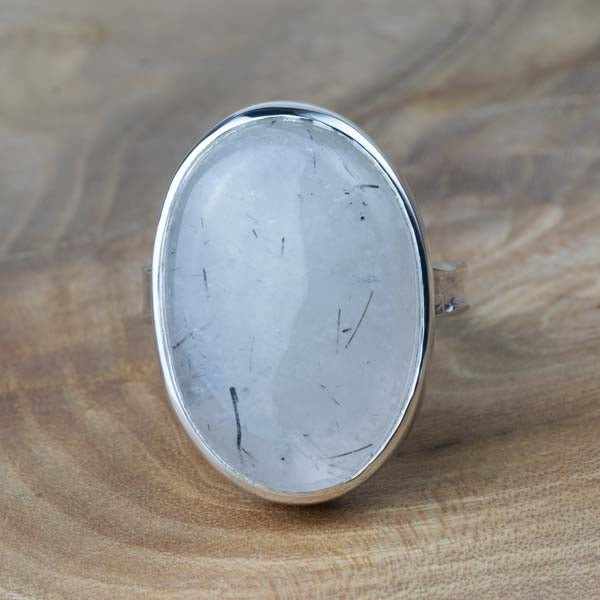 Silver tourmalated quartz Storybook Ring - No.519