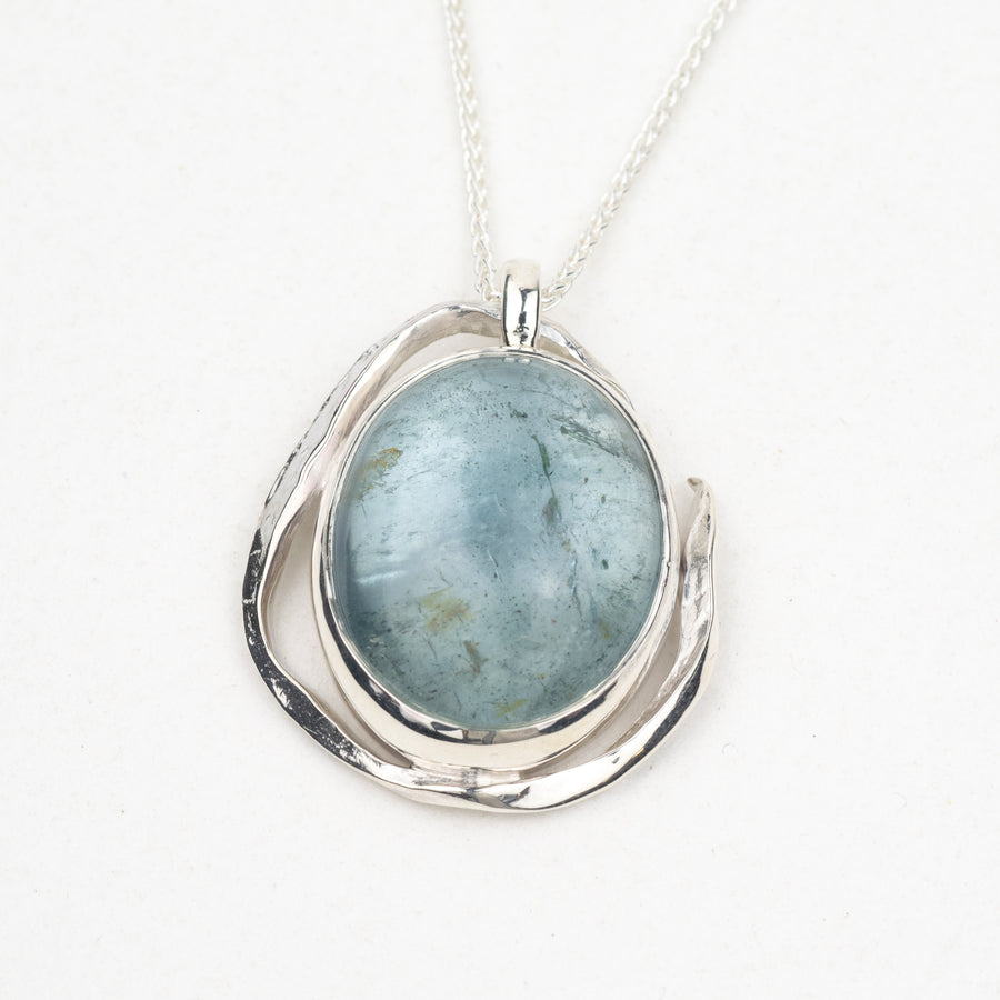 One Of A Kind Aquamarine Kelp Pendant - No.133