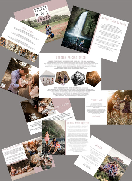 PHOTOGRAPHY WELCOME PACKET TEMPLATE