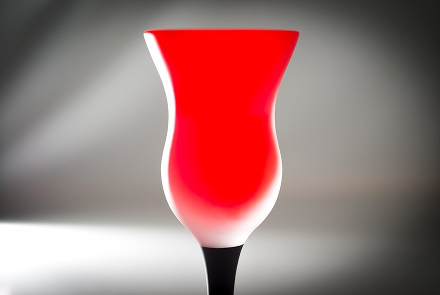 Red liqueur glass