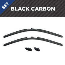 "Load image into Gallery viewer, CLIX Black Carbon Precison-Fit Two Pack Click-on Wiper Blades - 22"" 18"" X - Fit Small Top Button Wiper Arms"