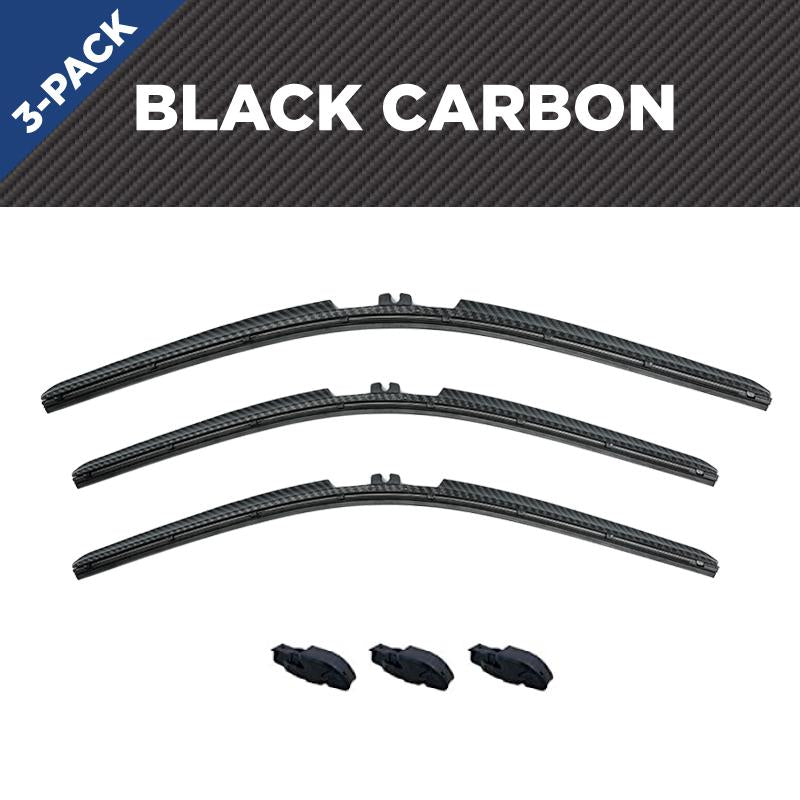 CLIX Black Carbon Toyota FJ Three Pack Click-on Wiper Blades - 16