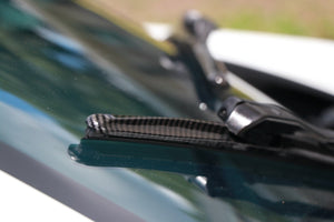 "CLIX Black Carbon Precison-Fit Two Pack Click-on Wiper Blades - 22"" 18"" X - Fit Small Top Button Wiper Arms"