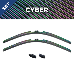 "CLIX Cyber Precison-Fit Two Pack Click-on Wiper Blades - 26"" 18"" - Fit Small Top Button Wiper Arms"