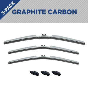 "CLIX Graphite Carbon Toyota FJ Three Pack Click-on Wiper Blades - 16"" 14"" 14"""