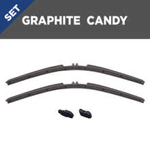"Load image into Gallery viewer, CLIX Graphite Candy Precison Fit Click-on Wiper Blades - 18"" 16"""