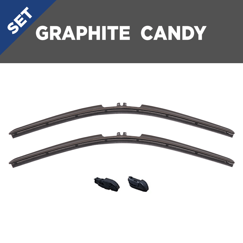 CLIX Graphite Candy Precison-Fit Two Pack Click-on Wiper Blades - 16