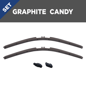 "CLIX Graphite Candy Precison-Fit Two Pack Click-on Wiper Blades - 14"" 14"""