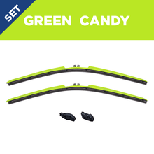 "Load image into Gallery viewer, CLIX Green Candy Precison Fit Click-on Wiper Blades - 22"" 18"""