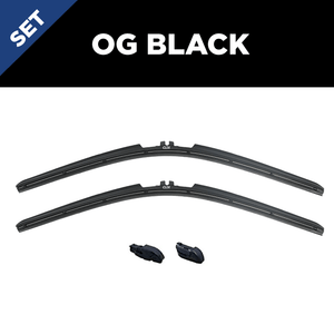 "CLIX Wipers Precison-Fit Two Pack Click-on Wiper Blades - 26"" 20"" - Fits skinny 15mm Top Button wiper arms"
