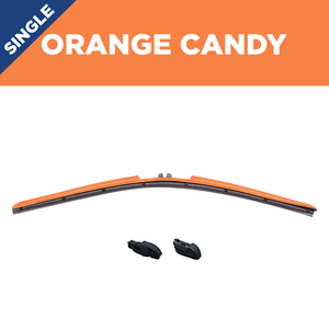 "22"" CLIX Orange Candy WIper Blade X2 CLip"