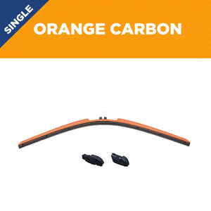 "22"" CLIX Orange Carbon WIper Blade X3 CLip"