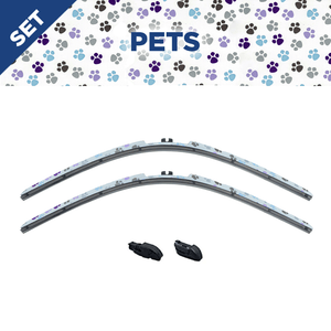 "CLIX Pets Precison-Fit Two Pack Click-on Wiper Blades - 26"" 18"" - Fit Small Top Button Wiper Arms"