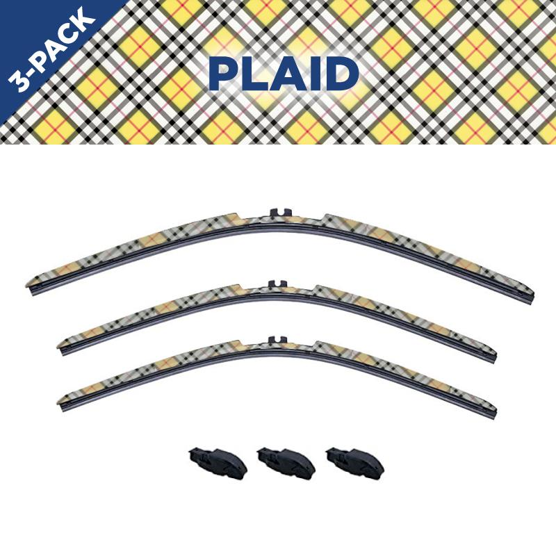 CLIX Plaid Toyota FJ Three Pack Click-on Wiper Blades - 16
