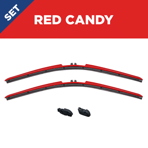 "CLIX Red Candy Precison-Fit Two Pack Click-on Wiper Blades - 16"" 14"""