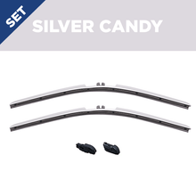 "Load image into Gallery viewer, CLIX Silver Candy Precison-Fit Two Pack Click-on Wiper Blades - 22"" 18"" - Fit Small Top Button Wiper Arms"