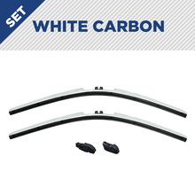 "Load image into Gallery viewer, CLIX White Carbon Precison-Fit Two Pack Click-on Wiper Blades - 26"" 18"" - Fit Small Top Button Wiper Arms"