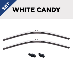 "CLIX White Candy Precison Fit Click-on Wiper Blades - 20"" 18"""